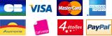 Visa, Carte Bancaire, MasterCard, American Express, Carte Aurore, Cofinoga, 4 �toiles, PayPal